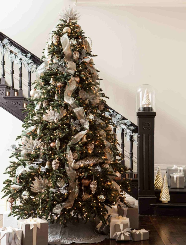 Noble Christmas Tree Decorations 2020 BH Noble Fir™ with Winter Frost Ornaments by Balsam Hill