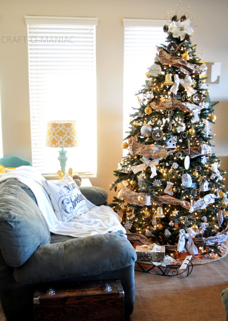 christmas tree decorating ideas - Silver And Gold Christmas Tree Decorations