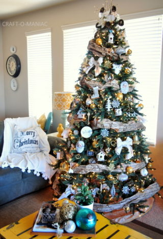 Rustic Silver And Gold Tree