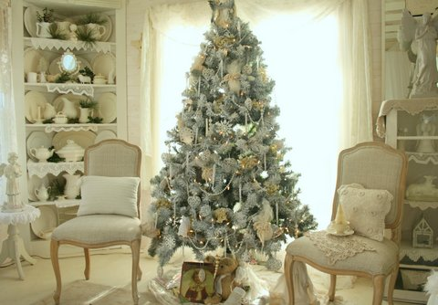 winter wonderland tree - Winter Wonderland Christmas Decorating Ideas