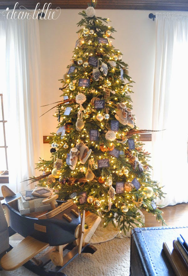 Christmas Tree Decorations Gold And Brown : Brown and gold themed tree christmas decorating ideas
