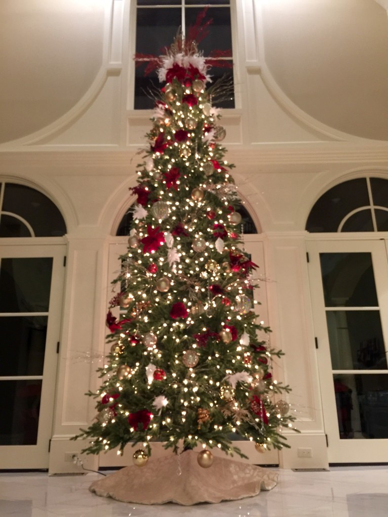 Red White Amp Champagne Christmas Tree Decorating Ideas