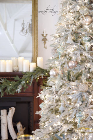 winter frost cottage glam frosted fraser fir artificial christmas tree - Frosty Blue Christmas Decorations