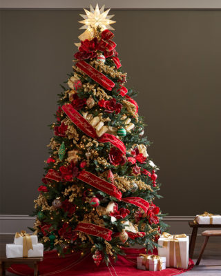 christmas cheer - Photos Of Christmas Trees Decorated With Ribbon