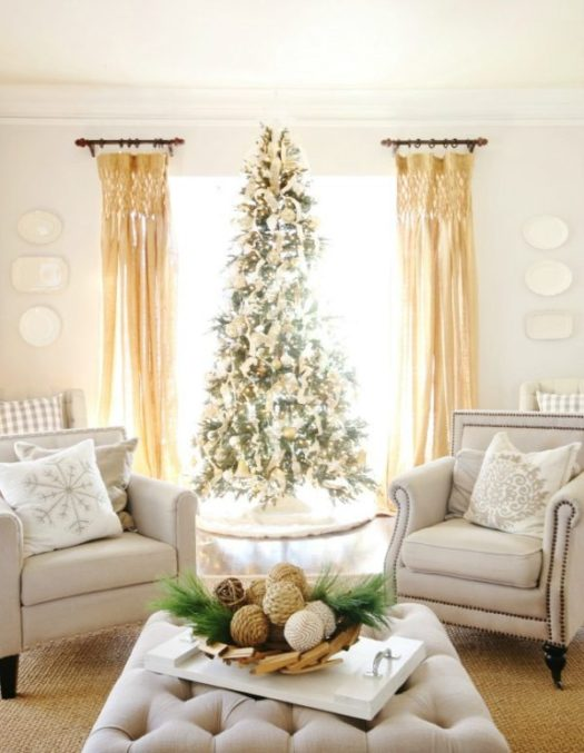 country farmhouse christmas tree - Farmhouse Christmas Decorating Ideas