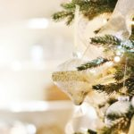 Close-up of Country Farmhouse Christmas Tree