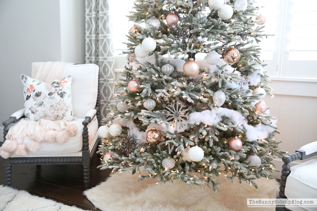 Frosted Christmas Tree Decorations  Artificial Frosted Tree